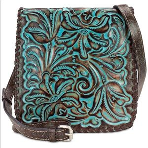 Patricia Nash Crossbody bag: Tooled Turquoise